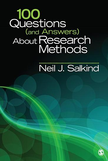 100 Questions  and Answers  About Research Methods PDF