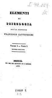 Elementi di psicologia: Volume 1