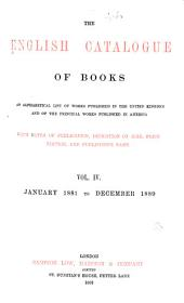 The English Catalogue of Books: Volume 4