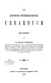 Das habsburg.-oesterreichische Urbarbuch