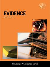 Evidence Lawcards 2010-2011: Edition 6