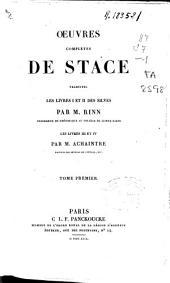 Oeuvres complétes de Stace: Volume1