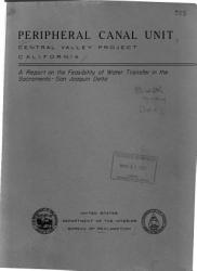Peripheral Canal Unit Central Valley Project California Book PDF