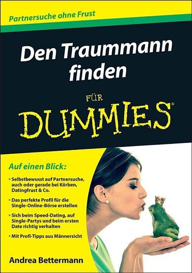 Den Traummann finden f  r Dummies PDF