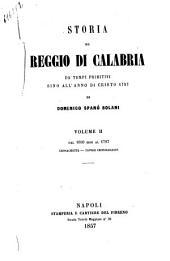 Storia di Reggio Calabria da' tempi primitivi sino all'anno di Cristo 1797 Domenico Spanò Bolani: Dal 1600 al 1797 cronachetta - tavole cronologiche