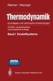 Thermodynamik. Grundlagen und technische Anwendungen: Band 1: Einstoffsysteme, Ausgabe 12