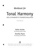 Workbook for Tonal Harmony  with an Introduction to Twentieth century Music