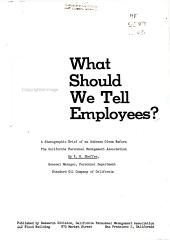 What Should We Tell Employees  PDF