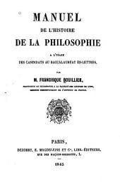 Manuel de l'histoire de la philosophie