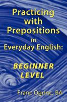 Practicing with Prepositions in Everyday English PDF