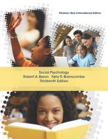 Social Psychology  Pearson New International Edition PDF