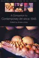 A Companion To Contemporary Art Since 1945