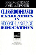 Classroom  Based Evaluation in Second Language Education PDF