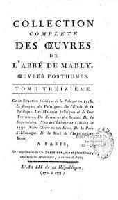Collection complète des oeuvres de l'Abbé de Mably.... (précédées d'un Eloge historique). (par l'Abbé Brizard)