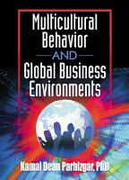 Multicultural Behavior and Global Business Environments PDF