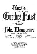Musik zu Goethes Faust  op  43 PDF