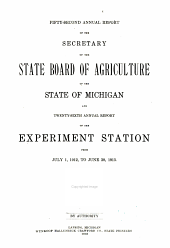 Annual Report of the Agricultural Experiment Station, Michigan State University: Volume 26