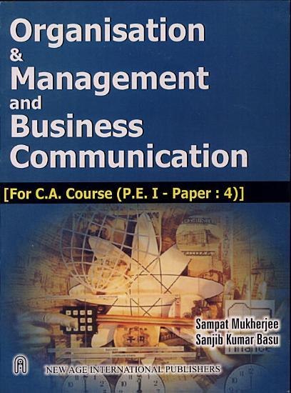 Organisation   Management And Business Communication PDF