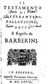 Il testamento di Ferrante Pallavicino detto il flagello de Barberini