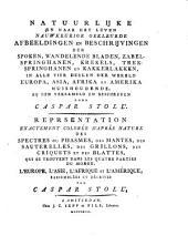 Afbeeldingen en beschrijvingen der zabel- en trek-springhanen, krekels en kakkerlakken. Representation des sauterelles, des grillons et des blattes: Volume2