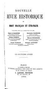 Revue historique de droit français et étranger: Volume18