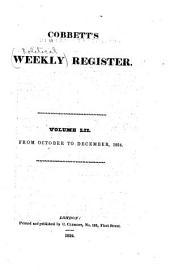 Cobbett's Political Register: Volume 52