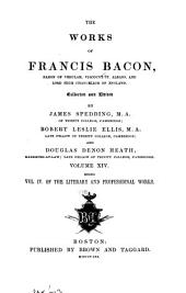 Works of Francis Bacon: Volume 10