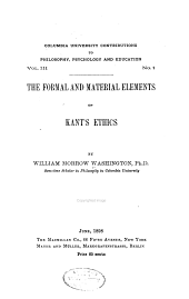 The Formal and Material Elements of Kant's Ethics: Volume 3