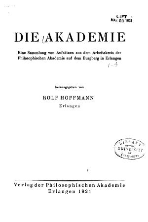 Die Akademie PDF