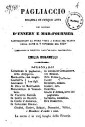 Pagliaccio dramma in cinque atti dei signori D'Ennery e Mar-Fournier