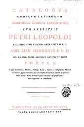 Catalogus codicum latinorum Bibliothecae mediceae laurentianae ...