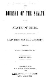 Journal of the Senate of the ... General Assembly of Ohio: Volume 61