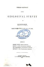 Report of the Geological Survey in Kentucky, Made During the Years ... and ...