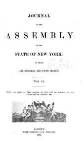 Journal of the Assembly of the State of New York: Volume 2