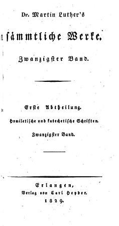 Dr  Martin Luther s s  mmtliche werke PDF