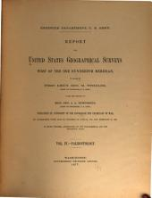 Report Upon United States Geographical Surveys West of the One Hundredth Meridian: Paleontology