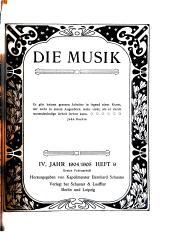 Die Musik: Band 4,Ausgaben 9-12
