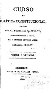 Curso de política constitucional: Volumen 2