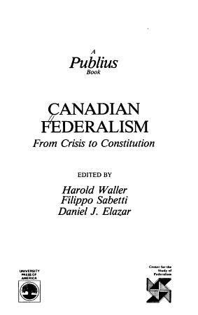 Canadian Federalism PDF