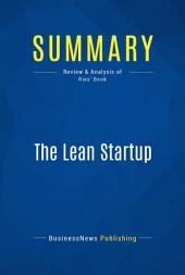 Summary: The Lean Startup: Review and Analysis of Ries' Book
