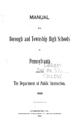 Manual for borough and township high schools in Pennsylvania