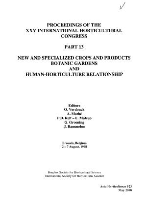 Proceedings of the Twenty fifth International Horticultural Congress