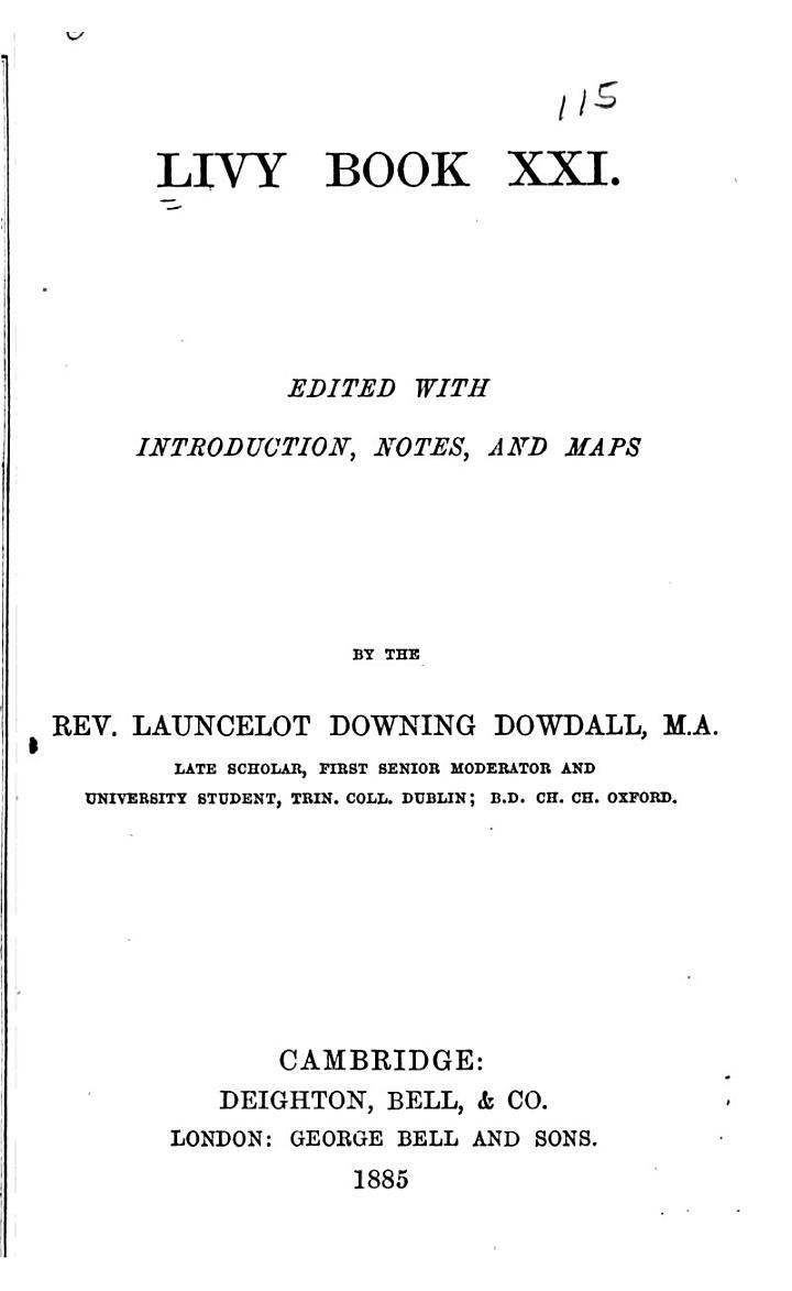 Livy Book 21, 22