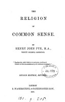 The Religion of Common Sense PDF