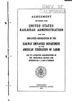 Agreement Between the United States Railroad Administration and the Employees Represented by the Railway Employees Department of the American Federation of Labor and Its Affiliated Organizations of the Mechanical Section and Divisions Nos. 1, 2, and 3 Thereof