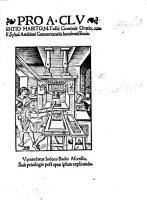 Pro A  Cluentio Habito  M  Tullii Ciceronis Oratio  cum F  Syluii Ambiani Commentariis luculentissimis PDF