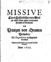 Missive eines Holländischen von Adel, an einen seiner Freunde in Braband