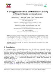 A new approach for multi attribute decision making problems in bipolar neutrosophic sets PDF