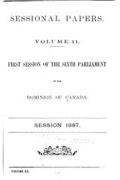 Sessional Papers: Volume 11; Volume 20, Issue 11