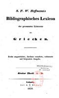 Bibliographisches Lexicon der gesammten Litteratur der Griechen PDF